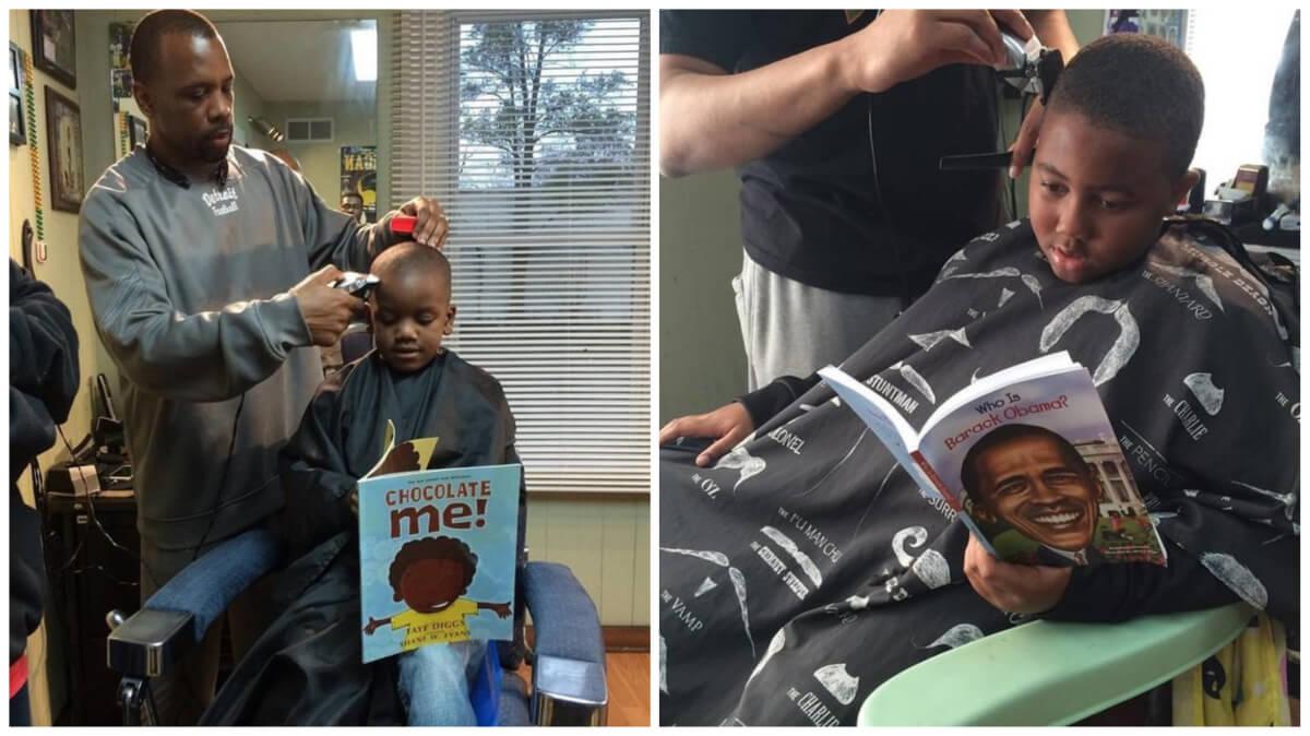 5 - Barbearia oferece desconto às crianças que leem livro em voz alta durante o corte de cabelo