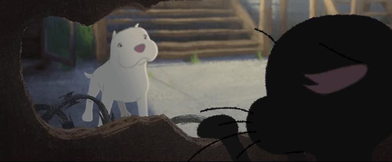 kitbull 3 - A Pixar lançou um novo curta-metragem. Uma bela história de amizade entre dois animais em busca de afeto