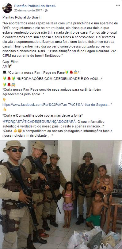 Boa Ação no Ceará - Policiais do sertão da Bahia comovidos, fazem uma vaquinha e doam alimentos para família com fome