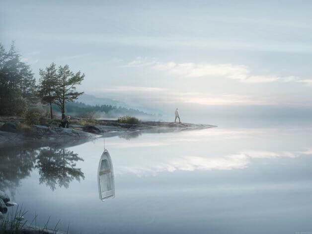 lago e1496265394644 3 - Fotógrafo faz uma obra de arte incrível com uma sequência de fotos, simulando a lua cheia sendo trocada