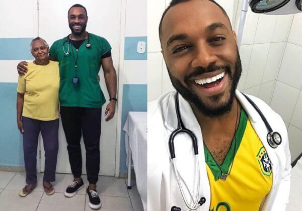 médico negro close 1 e1556551186320 - Médico do SUS recebe pacientes surdos e faz atendimento em Libras