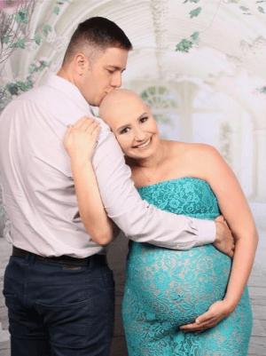 Bia e Marido no processo de tratamento - Com câncer no começo da gravidez, mãe decidiu nao interromper a gravidez e salvou a si e a filha