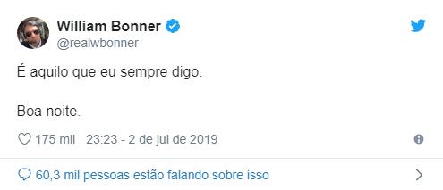 Bonner - William Bonner decide apagar sua conta no Instagram e diz: 'Vivendo a vida de verdade'