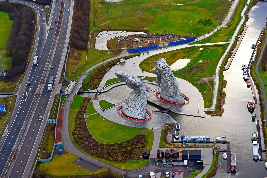 esc3 - Belíssima escultura The Kelpies com 30 metros de altura impressiona!