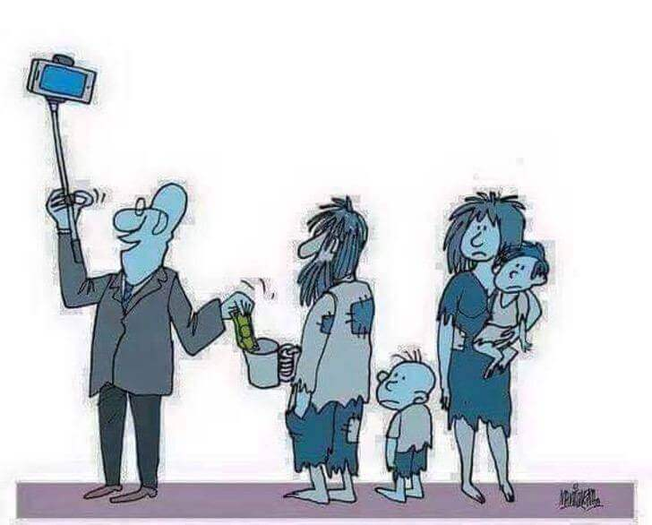 2 - 12 desenhos que representam a infeliz realidade que vivemos.