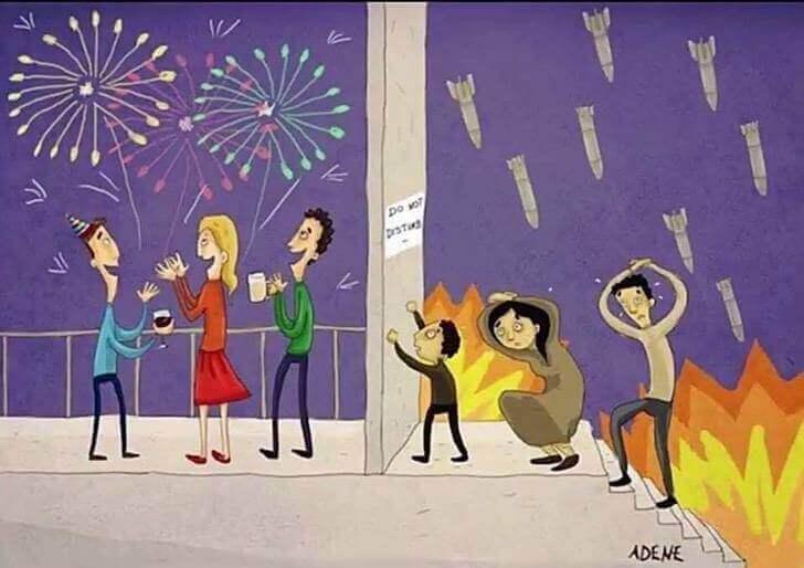 7 - 12 desenhos que representam a infeliz realidade que vivemos.