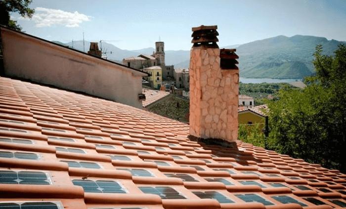 Telhas com painel solar - Empresas Italianas criaram telha que já vem com placas solares