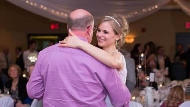 Valsa 1 - Noiva sobrevive à leucemia graças a um doador e dança valsa de casamento com ele