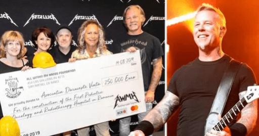 metallica e doações - Banda Metallica doou R$ 1 milhão para construção de hospital pediátrico de oncologia na Romênia