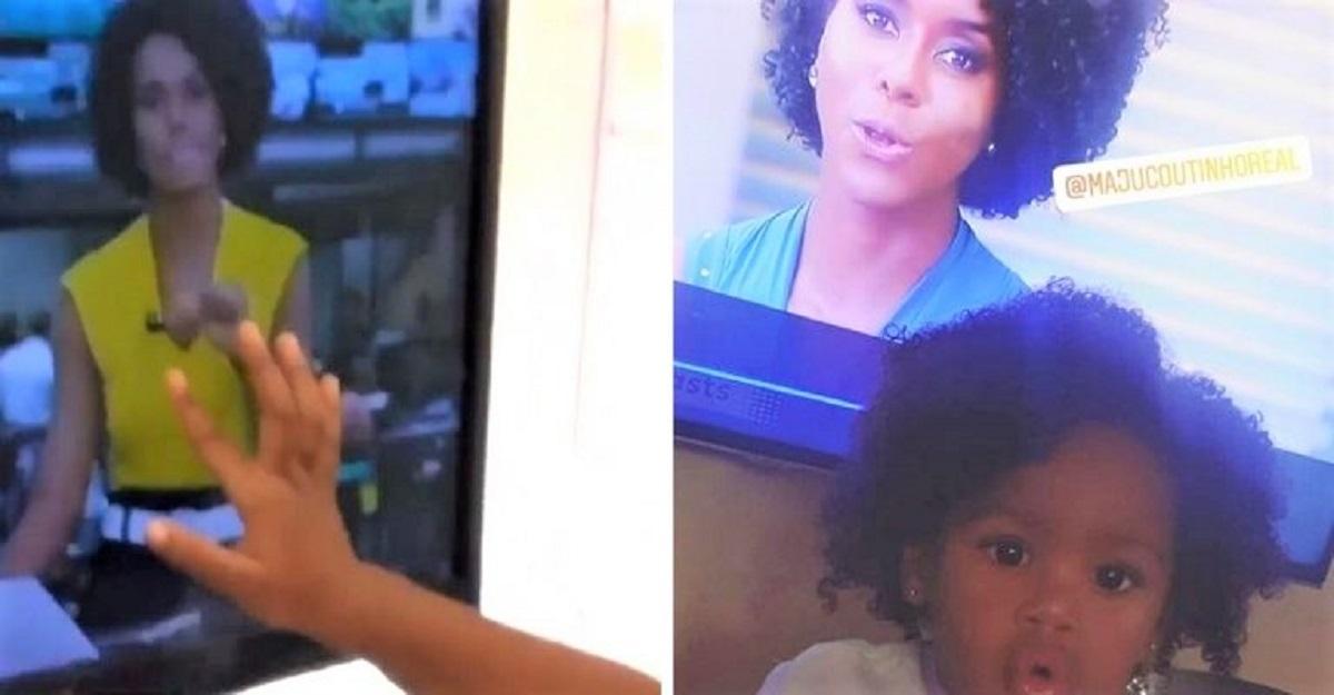 Maju e menininha t - Menininha identifica- se com Maju Coutinho na TV e viraliza: 'Ela se sentiu representada'