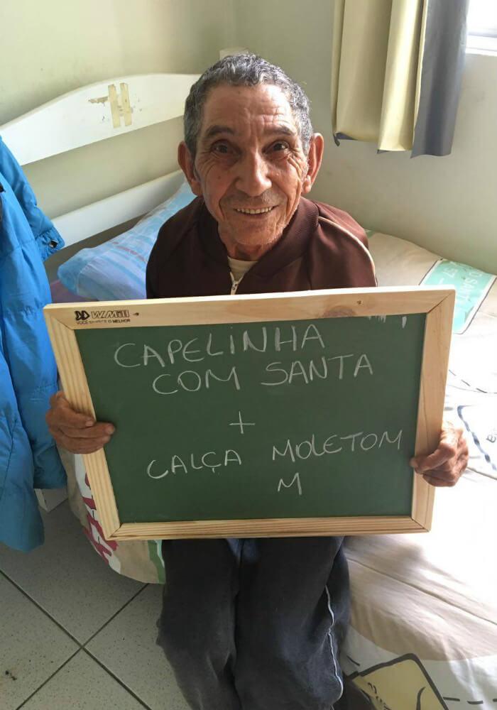 asilo10 - Idosos de um asilo no Paraná comovem a internet com pedidos simples e motivam muitas pessoas
