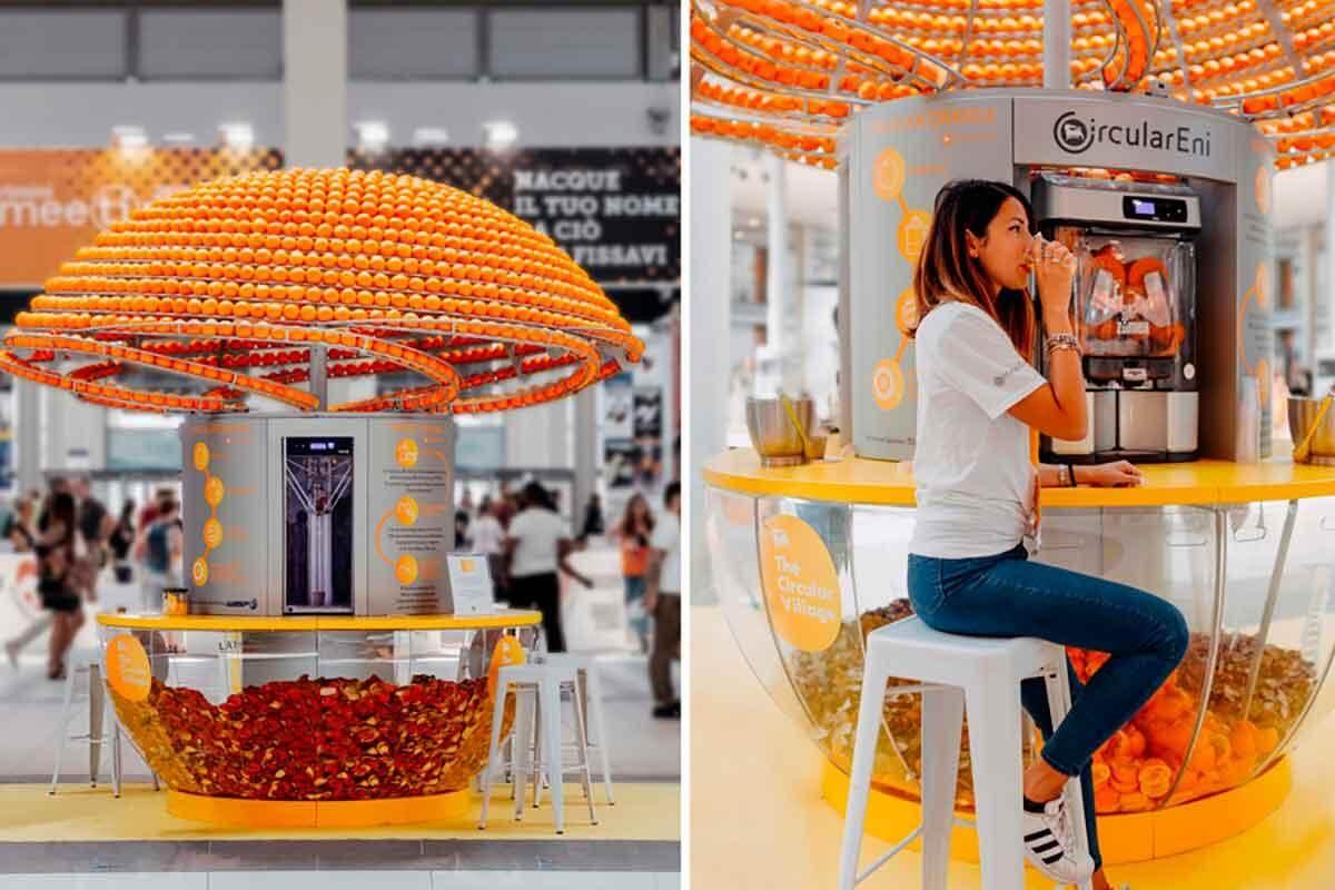 feel the peel 2 - Técnica Inovadora permite máquina fazer suco de laranja e imprimir os copos imediatamente com a própria casca da laranja
