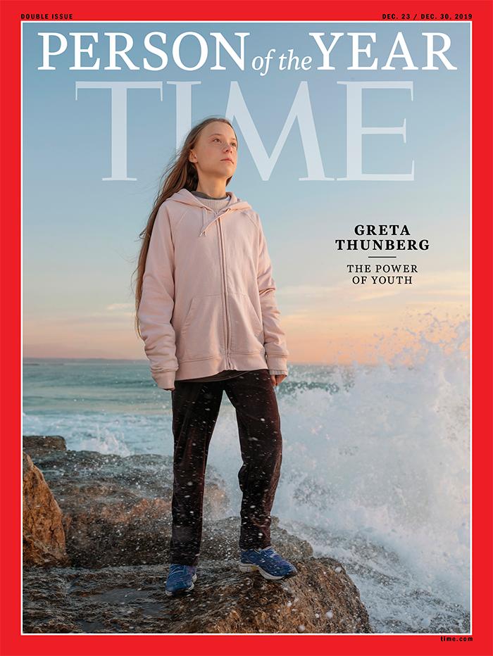 """A capa da Revista Time - Greta Thunberg, a ambientalista, é eleita """"pessoa do ano"""" pela revista Time"""