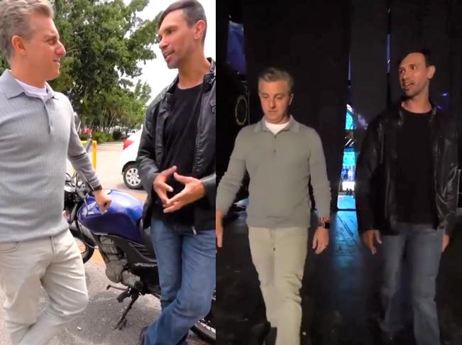 Motoboy conhece Estúdios Caldeirao - Motoboy que levou no colo mulher desconhecida na chuva ganha moto nova de presente