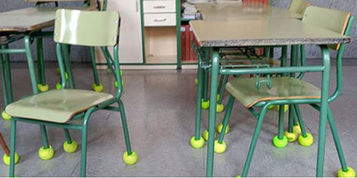bolinhas de tênis antirruido - Escola colocou bolas de tênis nos pés das cadeiras para amenizar o ruído que atormentava criança autista
