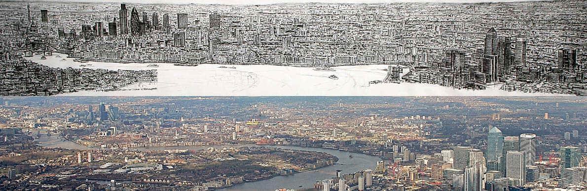 london panarama - Após sobrevoar a cidade por 20 minutos o rapaz autista memorizou e desenhou NY