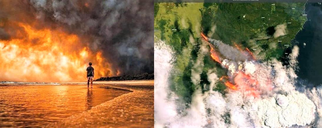 Austrália arde em chamas 3 - Austrália é destruída aos poucos pelos incêndios florestais que se espalham; descubra as causas (VÍDEO)