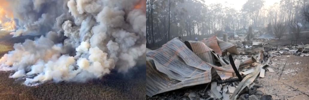 Chuva na Australia 1 - Chove no Sul da Austrália, chuva chega e ajuda a diminuir as chamas nas florestas