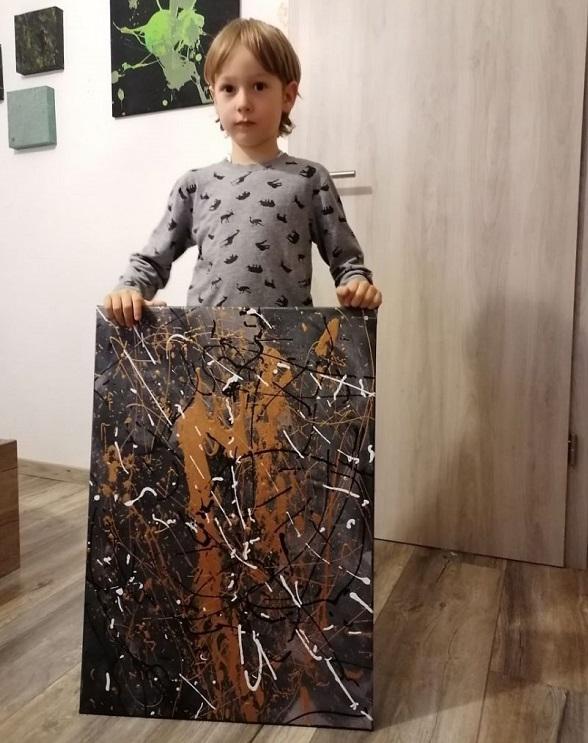 """11 2 - Pai postou com orgulho: """"Meu filho tem Autismo e se expressa através da pintura, e eis aqui algumas obras de arte dele""""."""