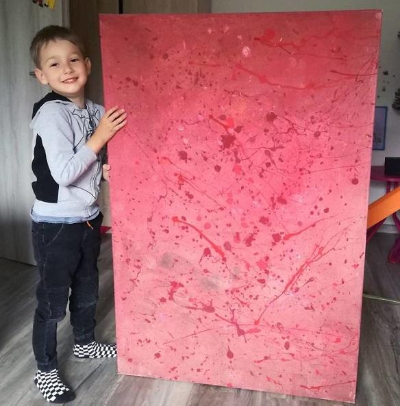 """14 1 - Pai postou com orgulho: """"Meu filho tem Autismo e se expressa através da pintura, e eis aqui algumas obras de arte dele""""."""