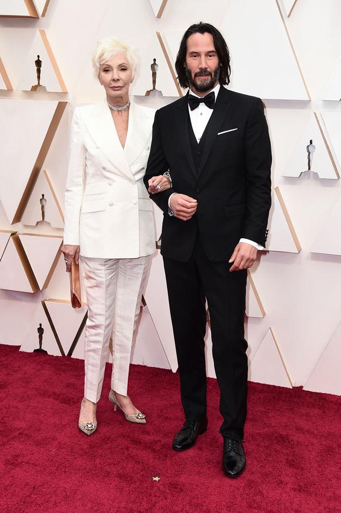 Keanu Reeves - Keanu Reeves levou sua mãe, Patricia Taylor, ao Oscar como sua acompanhante e rouba a cena!