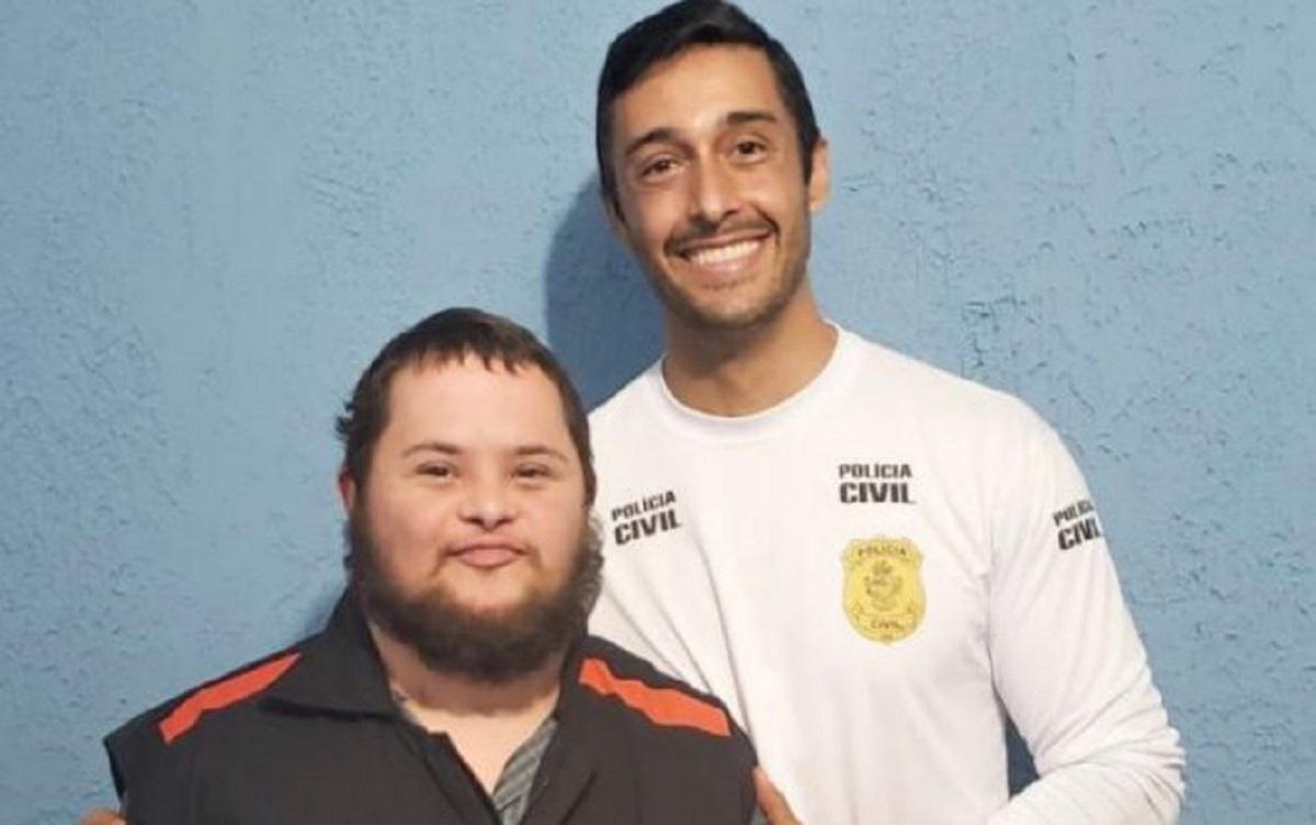 """lucas manoel - Rapaz com Síndrome de Down supera câncer e """"vira"""" policial em Anápolis(GO)"""