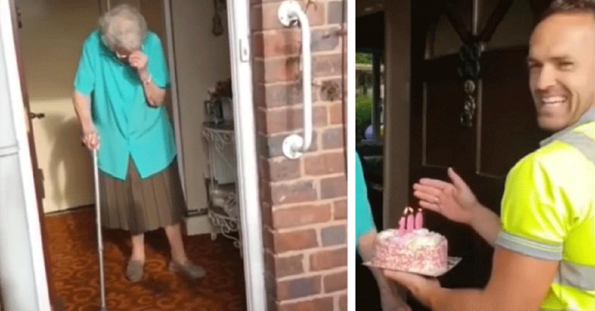 trash 696x364 1 - Vovó que morava sozinha recebeu uma surpresa dos coletores de lixo em seu 100º aniversário