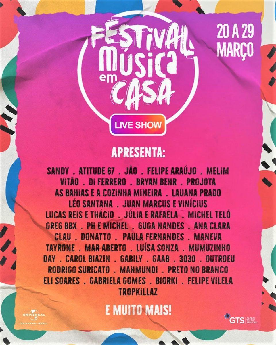 90051278 640515833435167 1964665466477198646 n scaled - Artistas lançam o Festival de Música em casa com shows online de 43 artistas: Sandy se apresentará primeiro