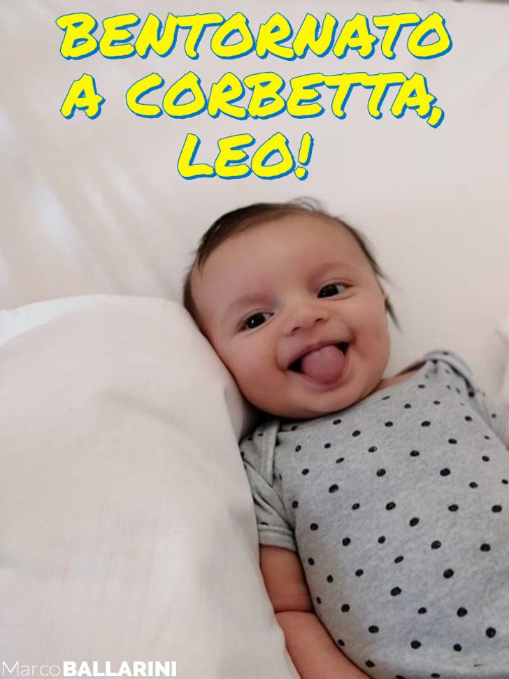 Marco Ballarine - O sorriso vitorioso de um bebê que lutou contra o coronavírus por 50 dias e o VENCEU