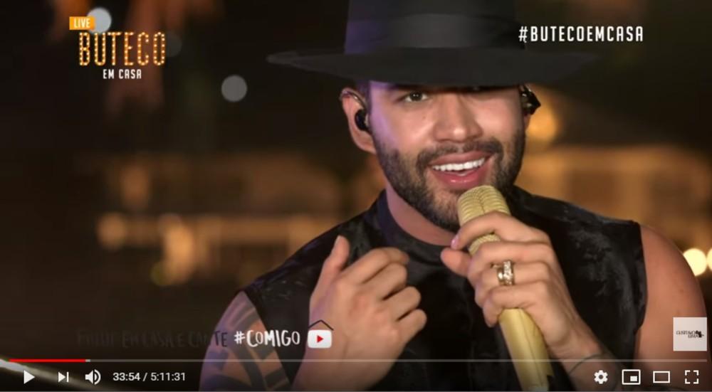 gusttavo 2 - Gusttavo Lima fez show em sua casa e transmitiu pela web devido a quarentena e consegue mais de 10 milhões de visualizações