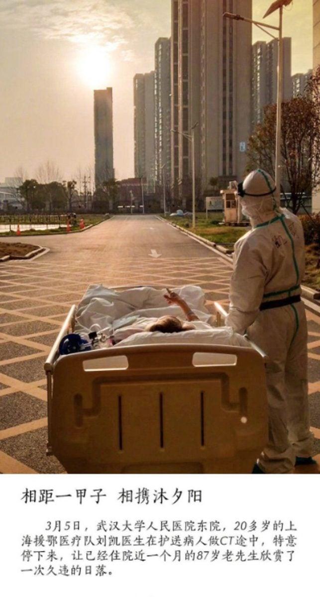 paciente 87 anos corona scaled 1 - Paciente de 87 anos infectado com coronavírus pede ao seu médico para curtir uma tarde de sol e ele o acompanha