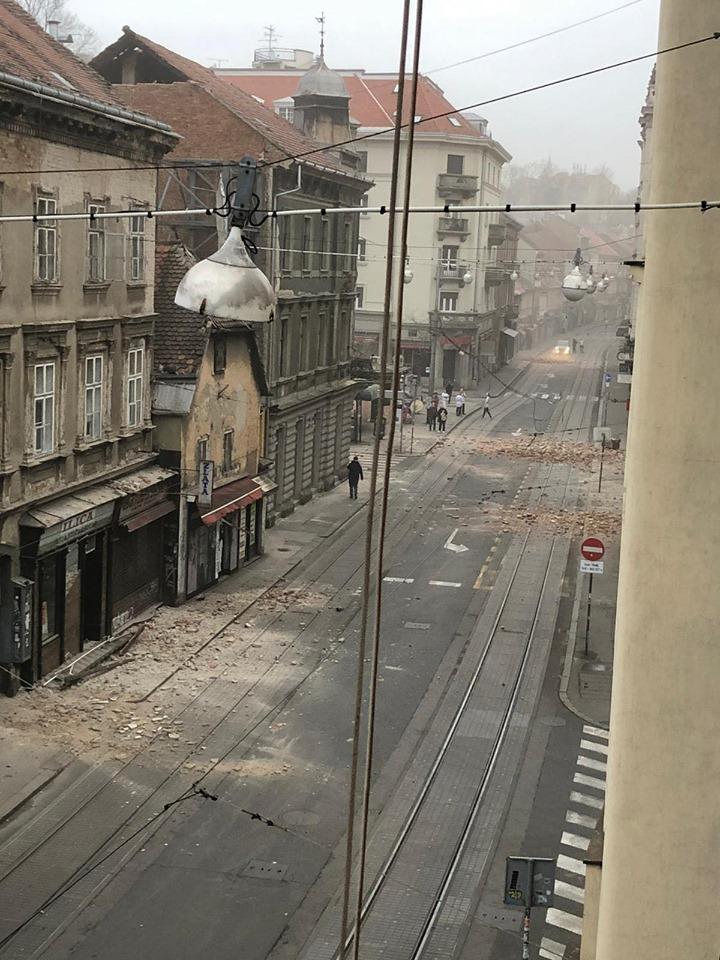 terremoto zagabria - Terremoto na Croácia: forte choque de magnitude 5,3 destrói a capital