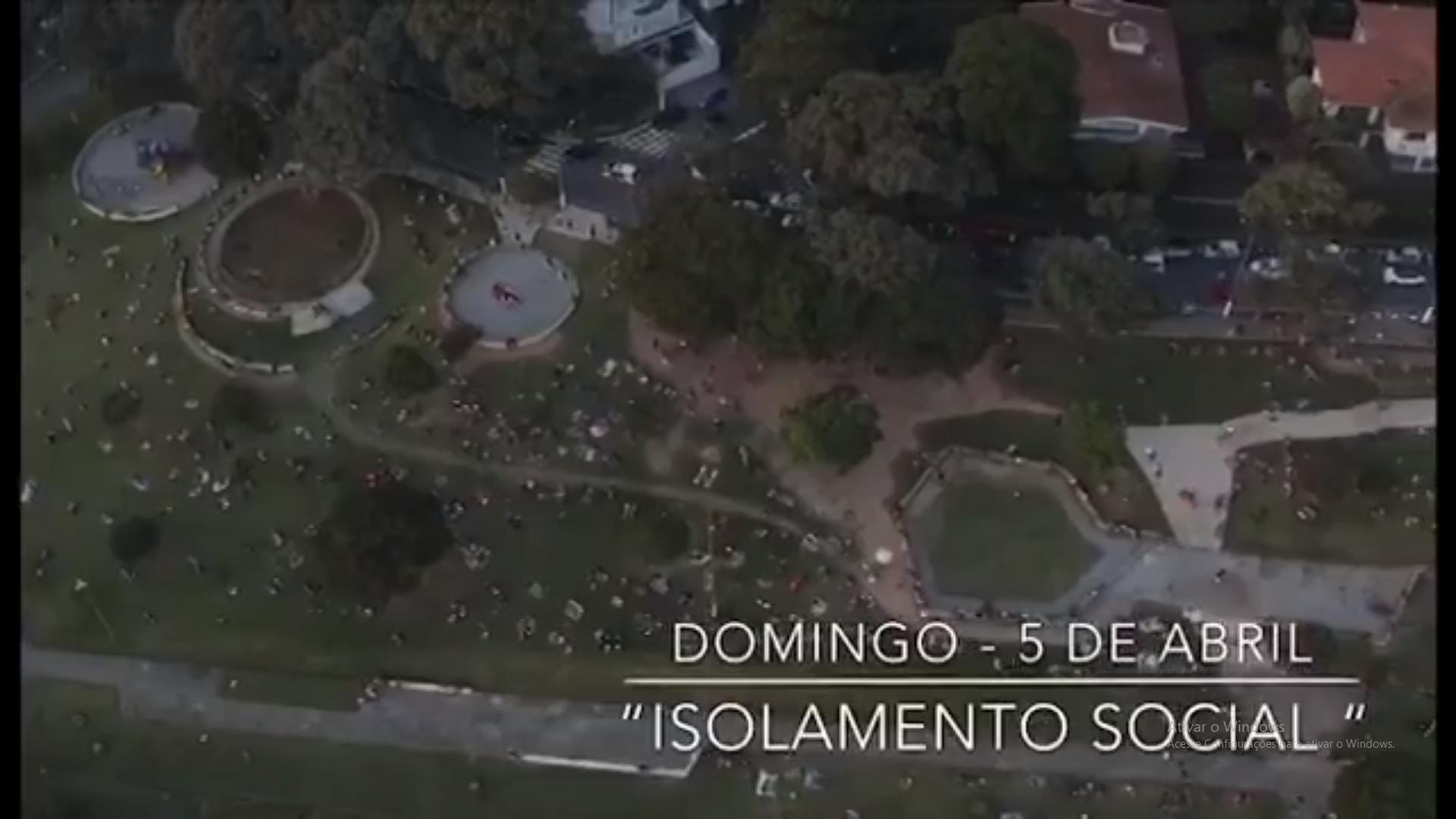Praça Por do Sol dia 05 de abril 4 - Quarentena: Drone regista imagens da praça do Pôr do Sol na capital de SP e aparece LOTADA DE PESSOAS