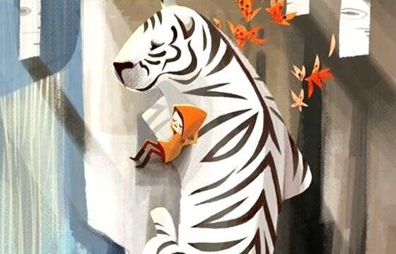 bambina con.tigre bianca - A atitude é contagiante: vamos nos cercar daqueles que despertam o melhor de nós