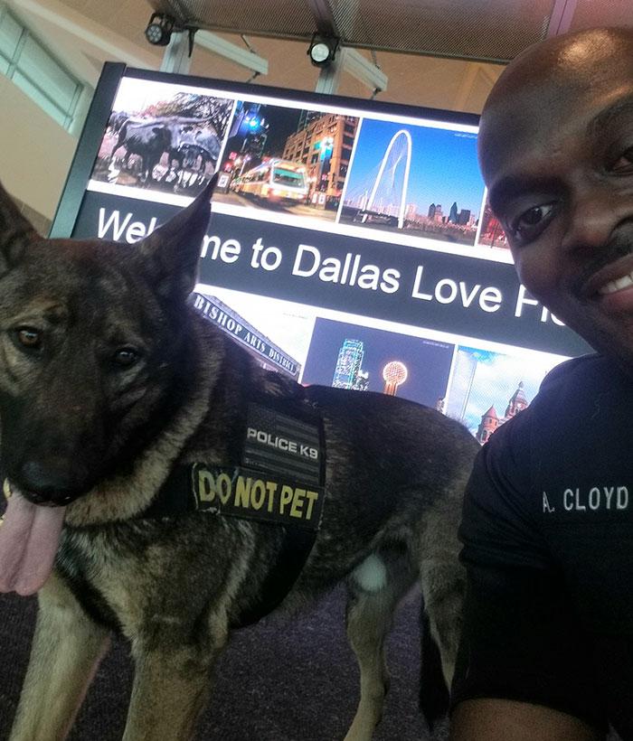 4 1 - Policial tirando selfies com seu cão encanta a todos