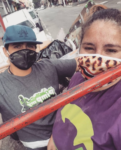anne caroline e o marido lucas - Ex-dependente de drogas faz da reciclagem seu propósito de vida e dá exemplo de resiliência