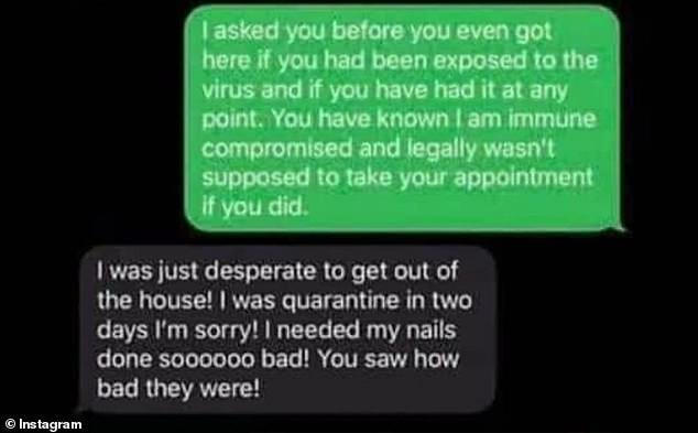 202008110842170qwnlji2cr - Mulher infectada com covid-19 foi à manicure e só avisou que estava com o vírus um dia depois