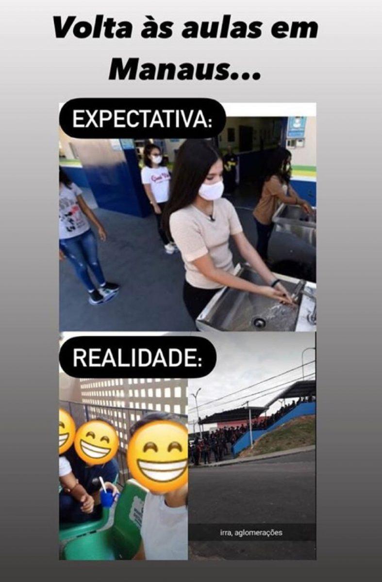"""alunos 05 scaled - Como foi a volta às aulas em Manaus: """"muitos deboches, memes e máscara gigante"""""""