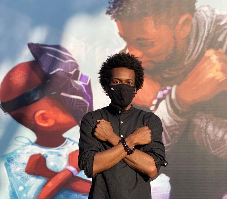 Marvel disney chadwick boseman mural honor fallecimiento0003 - Belo mural em homenagem a Chadwick Boseman foi revelado na Disneylândia. Wakanda para sempre!