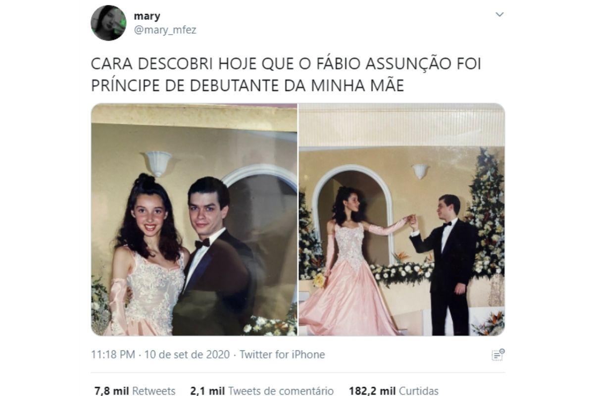 """fabio assuncao 1 - Mariana ficou perplexa com a descoberta """"Fábio Assunção foi príncipe"""" do baile de 15 anos de sua mãe!"""