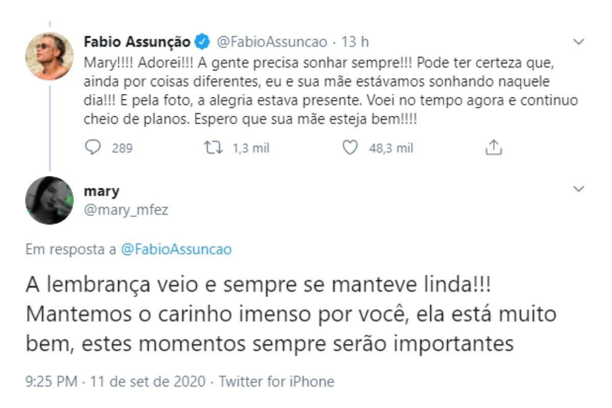 """fabio assuncao 2 - Mariana ficou perplexa com a descoberta """"Fábio Assunção foi príncipe"""" do baile de 15 anos de sua mãe!"""
