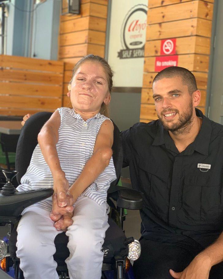 2 1 - Marios Giannakou realiza o sonho de mulher com deficiência.