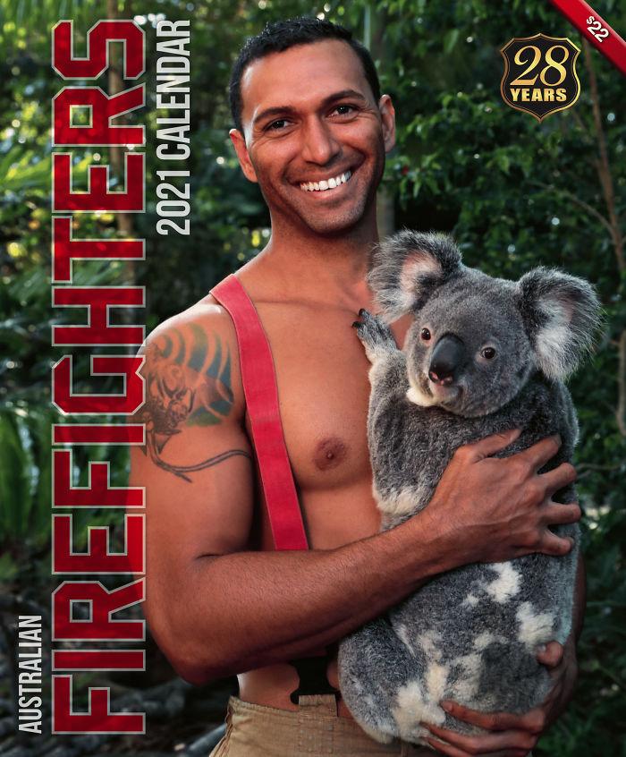 9 - Bombeiros australianos fazem pose para seu calendário de caridade 2021 para tratar animais selvagens feridos em incêndios recentes (18 fotos)