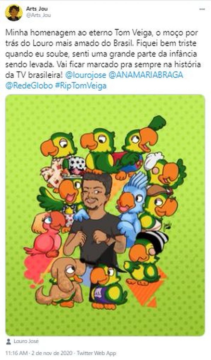 10 scaled - Fãs do eterno Louro José fazem homenagens a Tom Veiga nas Redes Sociais