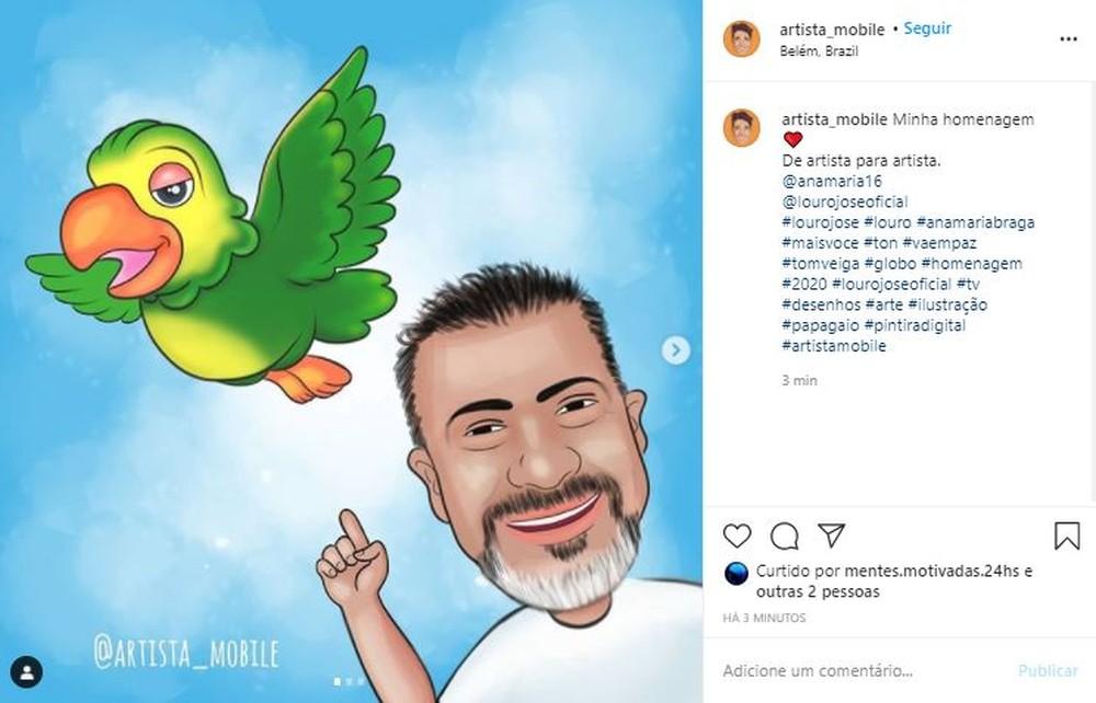 12 - Fãs do eterno Louro José fazem homenagens a Tom Veiga nas Redes Sociais