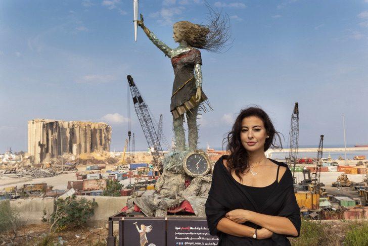 2 3 - Artista libanesa cria escultura poderosa com as cinzas deixadas pela explosão em Beirute. Um tributo
