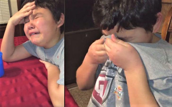 2 8 - Menino chorou com grande emoção ao tomar a última dose de quimioterapia. Ele venceu o câncer