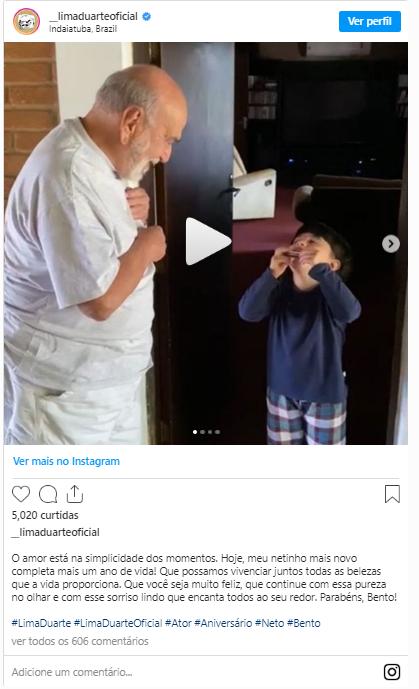 """Captura de Tela 104 - Lima Duarte completa 90 anos e escolhe viver no campo para aproveitar as """"coisas simples da vida"""""""