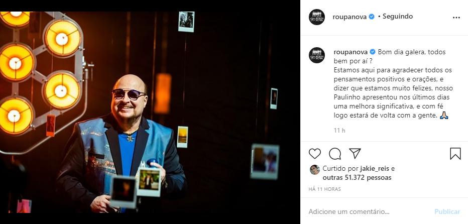 Captura de Tela 121 - Paulinho o vocalista do Roupa Nova, tem melhora no quadro de saúde após internação com covid-19