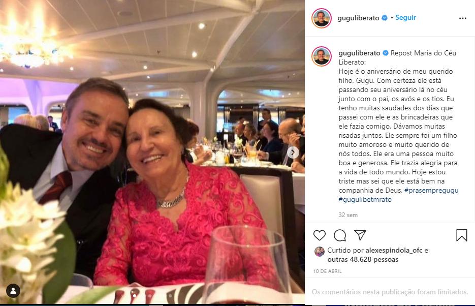 """Captura de Tela 156 - Mãe de Gugu Liberato fala sobre a pessoa que recebeu o coração do filho: """"Queria escutar de perto"""""""